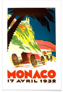 Vintage Monaco 17 April 1932 Poster