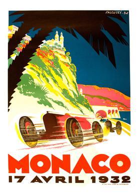 Vintage Monaco 17 April 1932 Canvas Print