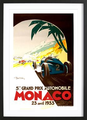 Vintage Monaco 23 April 1933 Framed Print