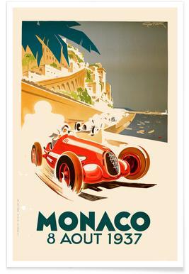 Vintage Monaco 8 August 1937 Poster