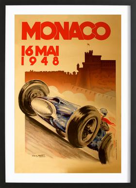 Vintage Monaco 16 May 1948 Framed Print