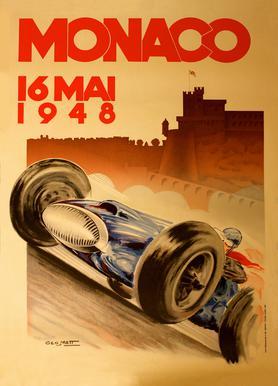 Vintage Monaco 16 May 1948 Canvas Print
