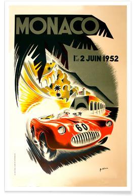 Vintage Monaco 1 June 1952 Poster