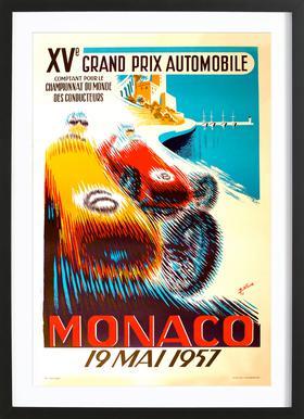 Vintage Monaco 19 May 1957 Framed Print