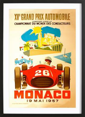 Vintage Monaco 19 May 1957 2 Framed Print