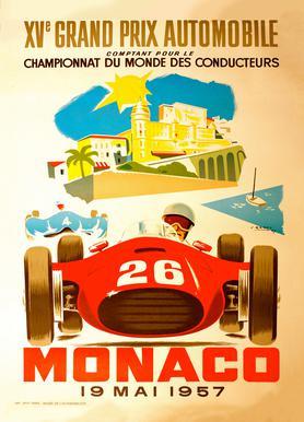 Vintage Monaco 19 May 1957 2 Canvas Print