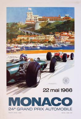 Vintage Monaco 22 May 1966 Acrylic Print