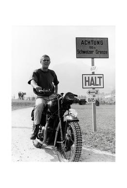 "Steve McQueen ""The Great Escape"" 1963  Aluminium Print"