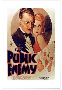 'The Public Enemy' Retro Movie Poster