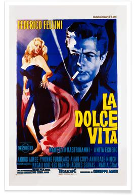'La Dolce Vita' Retro Movie Poster -Poster