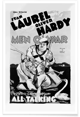 'Men O'War' Retro Movie Poster