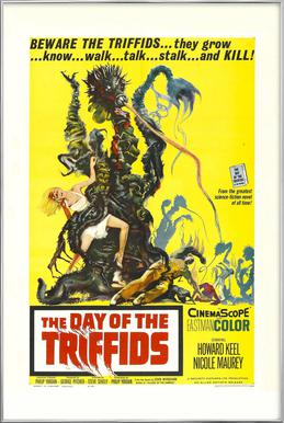 'The Day of the Triffids' Retro Movie Poster -Poster im Alurahmen