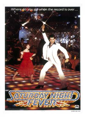 'Saturday Night Fever' Retro Movie Poster