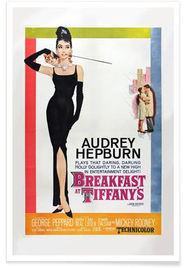 'Breakfast at Tiffany's' Retro Movie Poster Poster