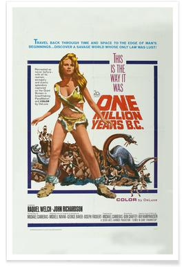 'One Million Years BC' Retro Movie Poster -Poster