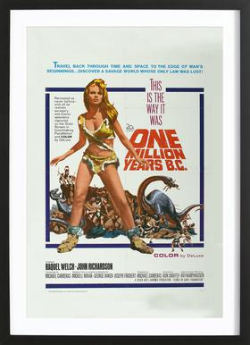 'One Million Years BC' Retro Movie Poster