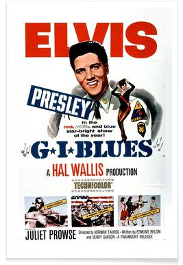'G.I. Blues' Retro Movie Poster -Poster