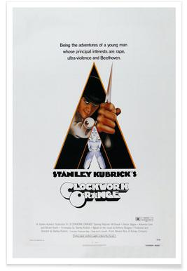 'A Clockwork Orange' - retro film poster