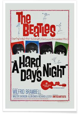 'A Hard Day's Night' - retro film poster
