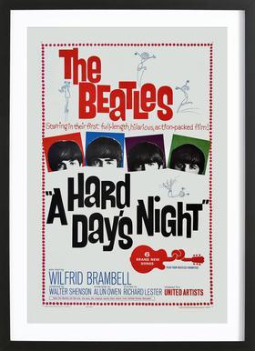 'A Hard Day's Night' Retro Movie Poster