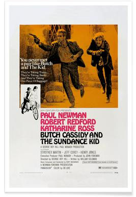 'Butch Cassidy and the Sundance Kid' Retro Movie Poster poster