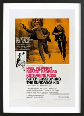 'Butch Cassidy and the Sundance Kid' Retro Movie Poster