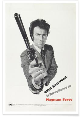 'Magnum Force' Retro Movie Poster poster
