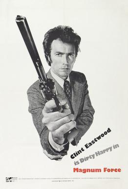 'Magnum Force' Retro Movie Poster alu dibond