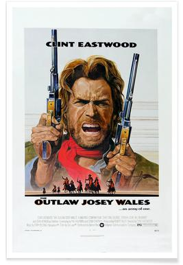 'The Outlaw Josey Wales' Retro Movie Poster Poster