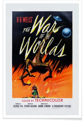 'The War of the Worlds' Retro Movie Poster Poster