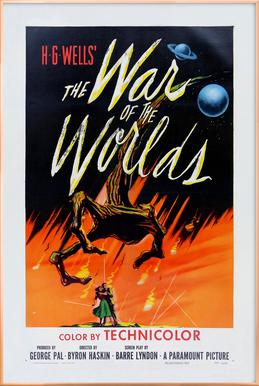 'The War of the Worlds' Retro Movie Poster Poster in Aluminium Frame