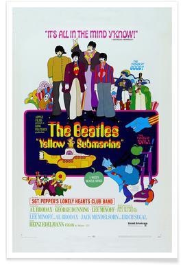 'Yellow Submarine' Retro Movie Poster Poster