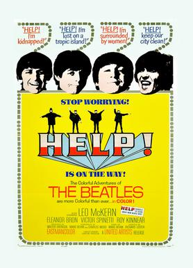 'Help!' Retro Movie Poster