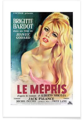 'Le Mepris' Retro Movie Poster Poster