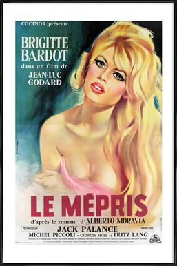 'Le Mepris' Retro Movie Poster ingelijste poster