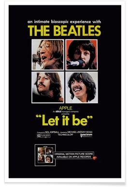 'Let It Be' Retro Movie Poster poster