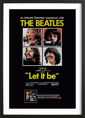 'Let It Be' Retro Movie Poster Framed Print