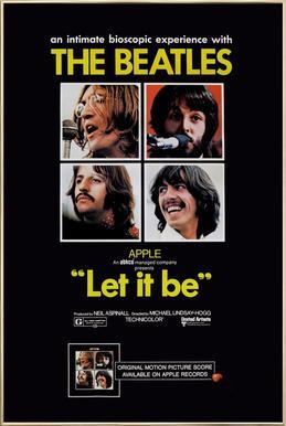 'Let It Be' Retro Movie Poster Poster in Aluminium Frame