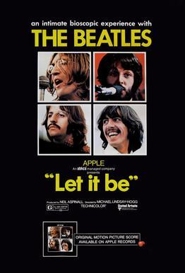 'Let It Be' Retro Movie Poster Aluminium Print