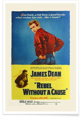 'Rebel Without a Cause' Retro Movie Poster Poster