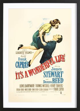 'It's a Wonderful Life' Retro Movie Poster
