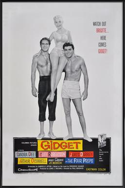 'Gidget' Retro Movie Poster