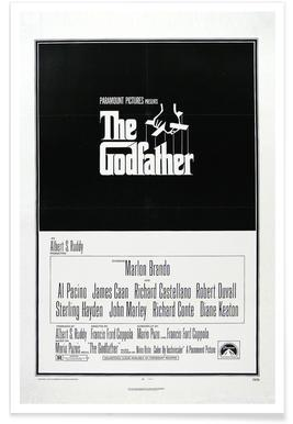 'The Godfather' Retro Movie Posters Poster
