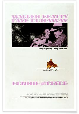 'Bonnie and Clyde' Retro Movie Poster poster