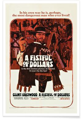 'A Fistful of Dollars' Retro Movie Poster