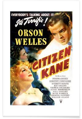 'Citizen Kane' Retro Movie Poster