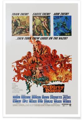 'The Dirty Dozen' Retro Movie Poster Poster