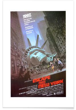 'Escape from New York' Retro Movie Poster