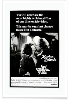 'Last Tango In Paris' Retro Movie Poster