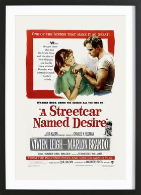 'A Streetcar Named Desire' Retro Movie Poster